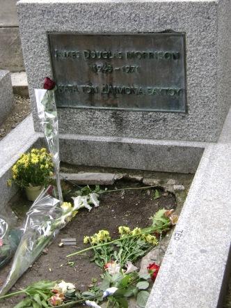 Jim Morisson's desolate grave